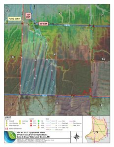 This is an example map produced by the BdSWD for each permit utilizing G.I.S. applications. Permit maps are sent to the adjacent landowners and agencies of the proposed project and they have 14 days to reply with concerns.